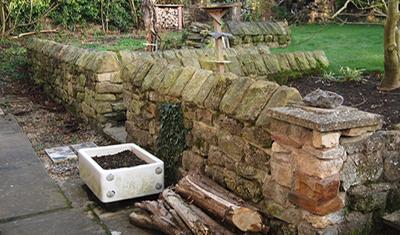Purpose built wildlife garden wall
